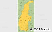 Savanna Style Simple Map of Sagaing