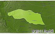Physical 3D Map of Tabayin, darken