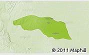 Physical 3D Map of Tabayin, lighten
