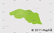 Physical Map of Tabayin, cropped outside
