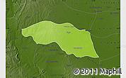 Physical Map of Tabayin, darken