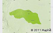 Physical Map of Tabayin, lighten