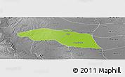 Physical Panoramic Map of Tabayin, desaturated
