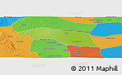 Physical Panoramic Map of Tabayin, political outside
