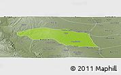 Physical Panoramic Map of Tabayin, semi-desaturated