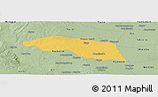 Savanna Style Panoramic Map of Tabayin