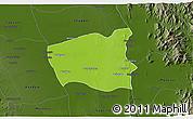 Physical 3D Map of Wetlet, darken