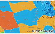 Political 3D Map of Wetlet