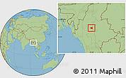 Savanna Style Location Map of Wetlet