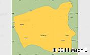 Savanna Style Simple Map of Wetlet