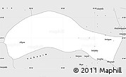 Silver Style Simple Map of Ye-U