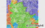 Political Shades 3D Map of Shan