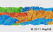 Political Panoramic Map of Ho-Pang