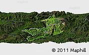 Satellite Panoramic Map of Ho-Pang, darken