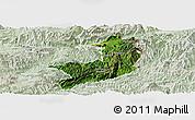 Satellite Panoramic Map of Ho-Pang, lighten