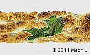 Satellite Panoramic Map of Ho-Pang, physical outside