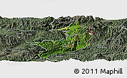 Satellite Panoramic Map of Ho-Pang, semi-desaturated