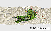 Satellite Panoramic Map of Ho-Pang, shaded relief outside