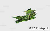 Satellite Panoramic Map of Ho-Pang, single color outside