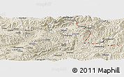 Shaded Relief Panoramic Map of Ho-Pang