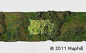 Satellite Panoramic Map of Ho-Pong, darken