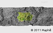 Satellite Panoramic Map of Ho-Pong, desaturated