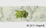 Satellite Panoramic Map of Ho-Pong, lighten