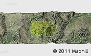Satellite Panoramic Map of Ho-Pong, semi-desaturated