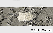Shaded Relief Panoramic Map of Ho-Pong, darken