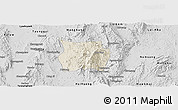 Shaded Relief Panoramic Map of Ho-Pong, desaturated