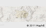 Shaded Relief Panoramic Map of Ho-Pong, lighten