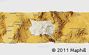 Shaded Relief Panoramic Map of Ho-Pong, physical outside