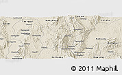 Shaded Relief Panoramic Map of Ho-Pong