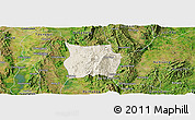 Shaded Relief Panoramic Map of Ho-Pong, satellite outside