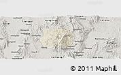 Shaded Relief Panoramic Map of Ho-Pong, semi-desaturated
