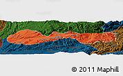 Political Panoramic Map of Hsenwi, darken