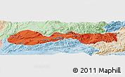 Political Panoramic Map of Hsenwi, lighten