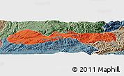 Political Panoramic Map of Hsenwi, semi-desaturated
