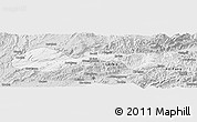 Silver Style Panoramic Map of Hsenwi