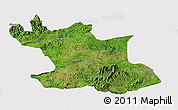 Satellite Panoramic Map of Hsipaw, cropped outside