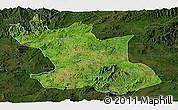 Satellite Panoramic Map of Hsipaw, darken