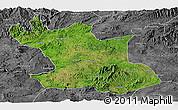 Satellite Panoramic Map of Hsipaw, desaturated