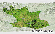 Satellite Panoramic Map of Hsipaw, lighten