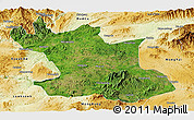 Satellite Panoramic Map of Hsipaw, physical outside