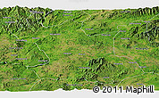 Satellite Panoramic Map of Hsipaw