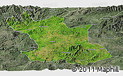 Satellite Panoramic Map of Hsipaw, semi-desaturated