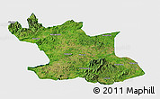 Satellite Panoramic Map of Hsipaw, single color outside