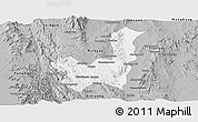 Gray Panoramic Map of Kalaw