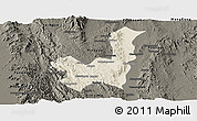 Shaded Relief Panoramic Map of Kalaw, darken