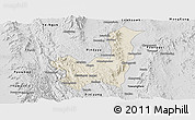 Shaded Relief Panoramic Map of Kalaw, desaturated